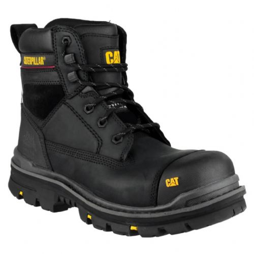 "Caterpillar Gravel 6"" Black Safety Boots"